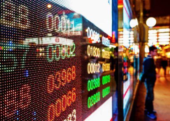 Hong Kong - Papan harga Bursa saham Hong Kong
