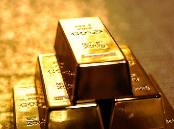 Harga emas tertahan oleh penguatan bunga obligasi AS